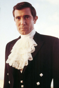 George Lazenby as James Bond in ON HER MAJESTY'S SECRET SERVICE, 1969